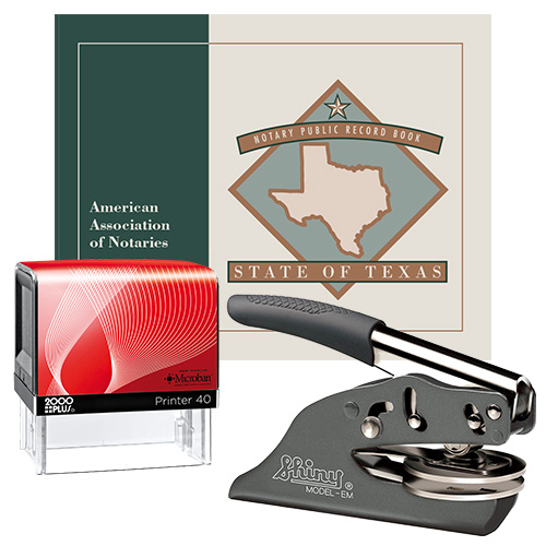 Texas Deluxe Notary Supplies Package I