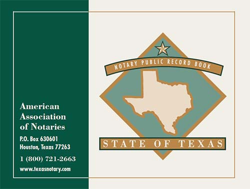 Texas Notary Record Book - (576 entries with thumbprint space)