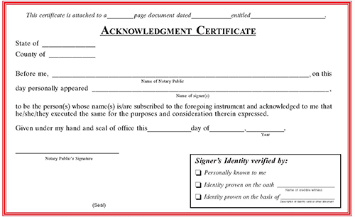 Texas Notarial Certificate Pads