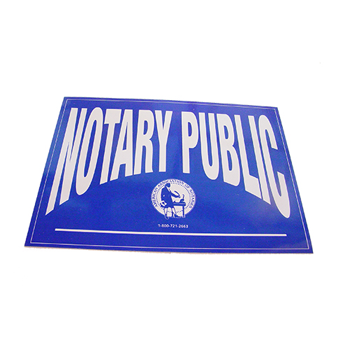 Idaho Notary Public Decals