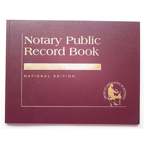 North Carolina Contemporary Notary Record Book - (with thumbprint space)