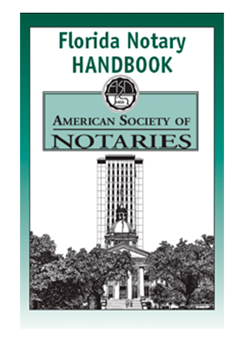 Florida notary educational book. Prepare yourself to be a successful Florida notary public with this notary law book, which contains over 100 pages of valuable notary information. The Florida notary law manual is designed to help you reduce your risk of liability by guiding you to follow proper notarial procedures. Learn how to perform notarial acts correctly and how to avoid costly mistakes. This Florida notary handbook also reveals vital techniques and disciplines that will enable you to adhere confidently to Florida notary law.