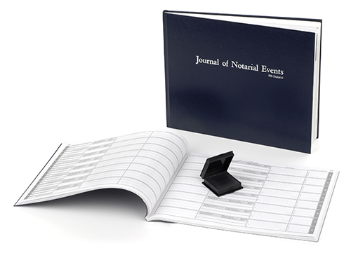 This record book is a step up from our Soft Cover Notary Journal item # 720. This sturdy, perfect-bound, hard-cover notary journal or record book features the newest clean print technology available today. This technology employs a unique method of capturing thumbprints. The paper in the journal is specially designed to react with the clear solution in the clean print pad to produce permanent, black thumbprints in your journal without leaving any residue on your clients' skin, making this a truly inkless pad. Accommodates over 480 entries (114 pages). Includes complete step-by-step instructions. Meets or exceeds state requirements for proper notarial record keeping.