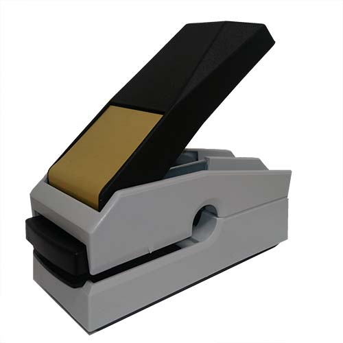 This award-winning, Canadian-made seal embosser is designed to create a lasting raised notary impression on any kind of paper with ease and comes with a life-time replacement guarantee. This Louisiana notary seal embosser is designed to allow embossing anywhere on a document where a standard embosser cannot reach. Creates notary seal impressions of 1-5/8 inches.