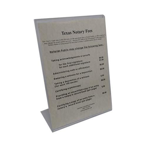 Texas Notary Fee Chart