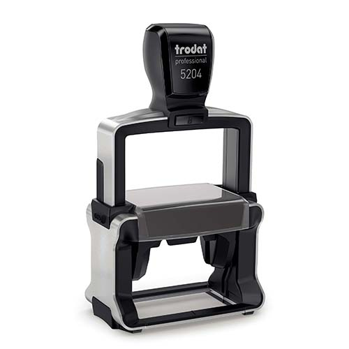 This heavy-duty, self-inking notary stamp is designed for 24/7 use or for notaries who want their stamps to last many years. The notary stamp's sturdy steel core guarantees durability and stability. The stamp handle fits comfortably in your hand and with gentle pressure produces the sharpest notary seal impression with ease. The ink pad can be easily replaced or re-inked. Available in five ink colors. Available in five ink colors.