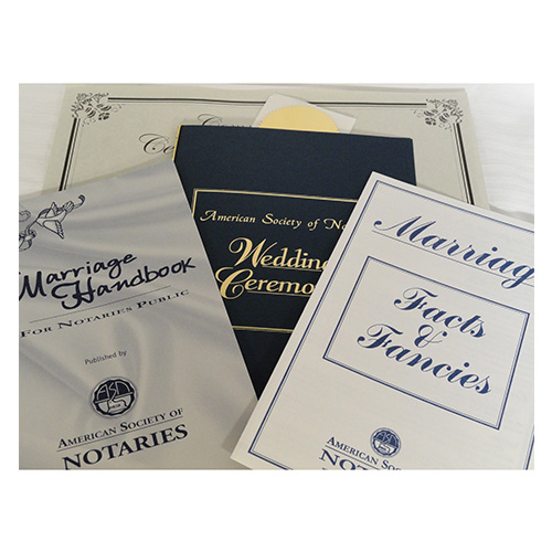 Notaries in Florida, South Carolina, Maine, and West Feleciana Parish, Louisiana, have the honor of performing lawful marriage ceremonies in their state. This unique authority is made easy with our wedding kit, which provides you with everything you need to start officiating weddings. This kit comes in a deluxe portfolio and includes sample ceremonies, instructions, ten commemorative marriage certificates, and gold foil seals.</title></title>