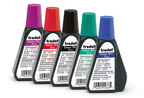 Keep a bottle of ink handy in case your self-inking Oklahoma notary stamp needs a refill. Click on the 'Add to Cart' button to choose the right ink color.