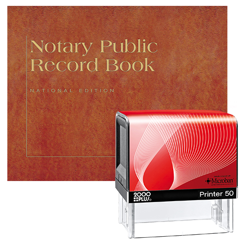 This notary supplies package includes Montana notary stamp item # MT216 and Montana notary record book item # MT702. The notary stamp is available in several case colors and five ink colors. Made in Europe by Colop Marking Solutions. This stamp offers solid construction that guarantees the highest durability and the best imprint quality. It produces thousands of perfect and consistent notary stamp impressions, stamp-after-stamp, without the need for re-inking. Its transparent base allows for perfect stamp impression alignment. It also includes simple, no mess, pad replacement or re-inking. Stamp impression is 3/4 x 2-1/4 inches. To order extra ink pads, select item #MT960 or select item #MT955 to order additional ink refill bottles. A free one-year membership to AAN - a $19.00 value - is included with the purchase of this value notary supplies package at no additional cost and with no obligation to renew.
